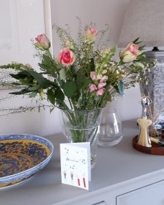 Flowers on publication day